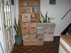 dozen in de woonkamer