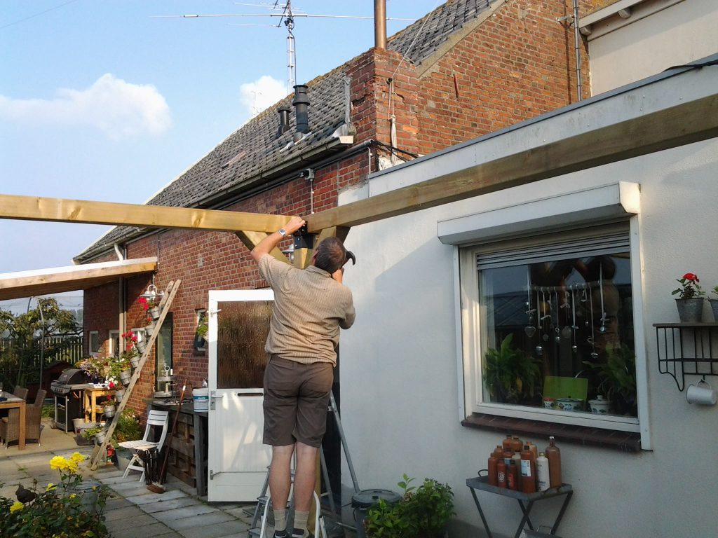 zonnescherm bouwen